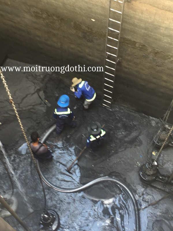 Nạo vét hầm chứa nước thải, nước PCCC